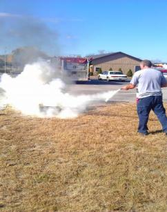 Fire Extinguisher Training / Employees at the Wastewater Facility
