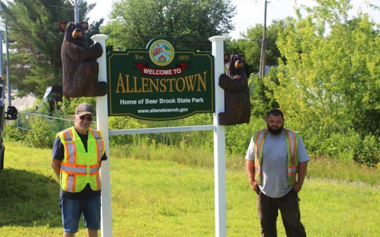 Allenstown NH Town Sign
